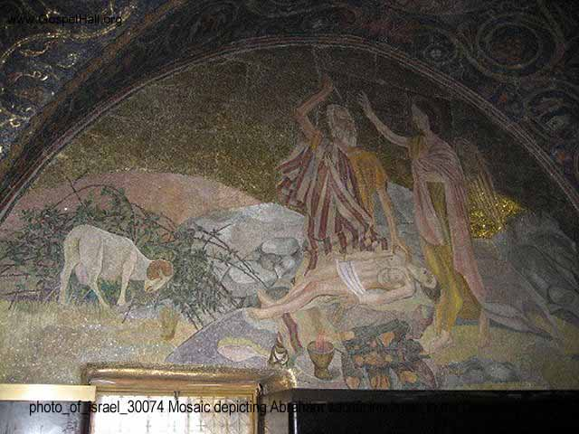 photo_of_israel_30074 Mosaic depicting Abraham sacrificing Isaac in the Church of the Holy Sepulchre.jpg